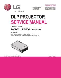 lg pb60g projector factory service manual & repair guide