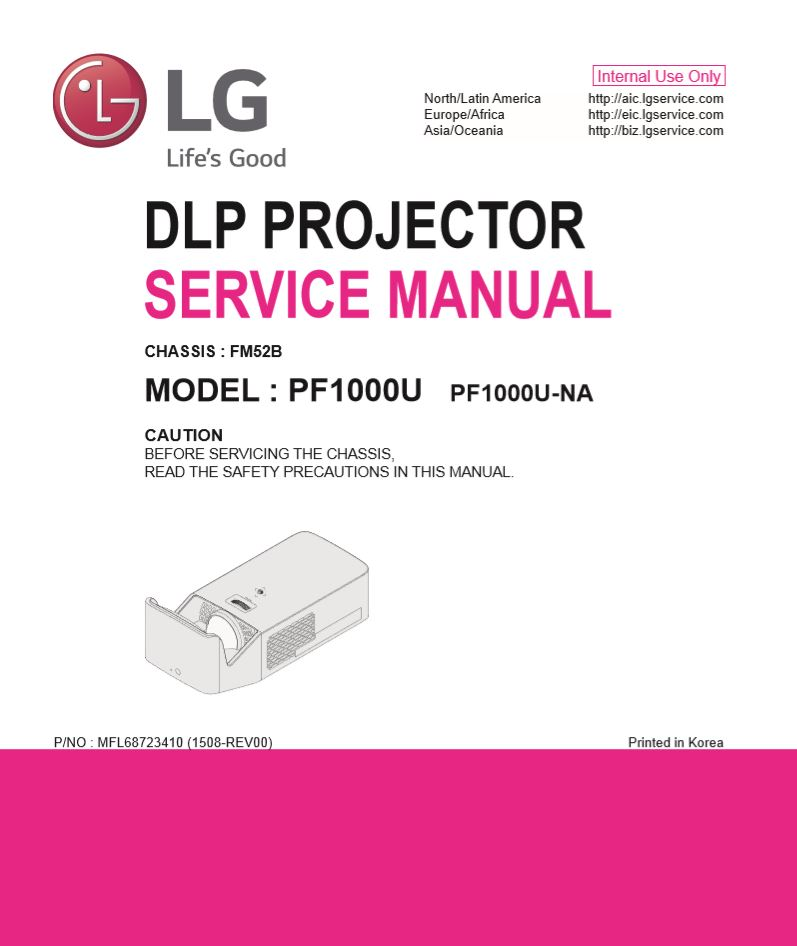 lg pf1000u projector factory service manual repair guide ebooks rh store payloadz com Film Projector Manual Epson Projector Manual