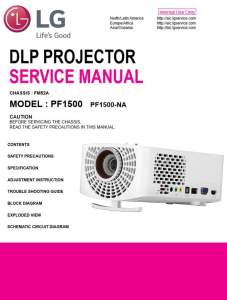 lg pf1500 projector factory service manual & repair guide