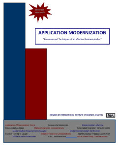 application modernization - qrg