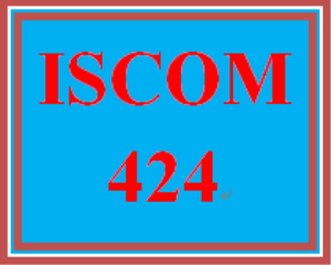 ISCOM 424 Week 1 Supply Chain Visual Representation | eBooks | Education