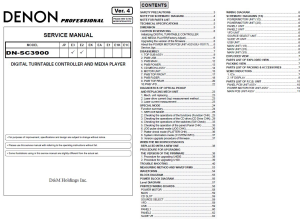 Denon DN-SC3900 media player controller Service Manual | eBooks | Technical