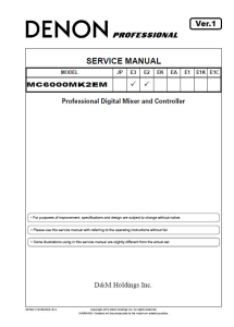 Denon MC6000MK2 DJ Mixer and controller Service Manual | eBooks | Technical