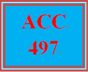 ACC 497 Week 2 Discussion | eBooks | Education