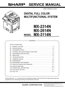 Sharp MX 2314N 2614N 3114N Full Service Manual Download | eBooks | Technical