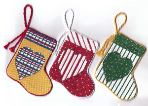 heart stocking ornaments