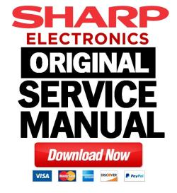 sharp lc 13sh1e 15sh1e service manual & repair guide