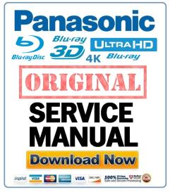 Panasonic DMP-BDT100 BDT100P BDT100PC BDT105 BDT105P Blu Ray player original Service Manual | eBooks | Technical