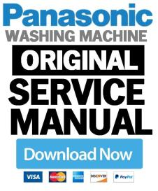 panasonic na 148vb6 148vb6wde 148vb6wgb washing machine service manual