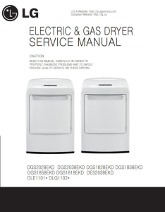 LG DLE1101W dryer service manual and repair guide | eBooks | Technical