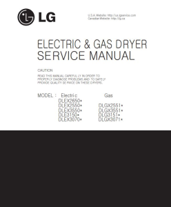 LG DLEX2650V dryer service manual and repair guide | eBooks | Technical