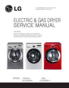 LG DLEX3360V DLEX3360W dryer service manual and repair guide | eBooks | Technical