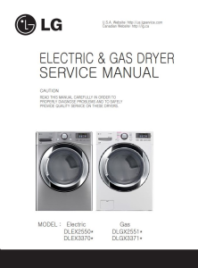 LG DLEX3370V DLEX3370W service manual dryer service manual and repair guide | eBooks | Technical