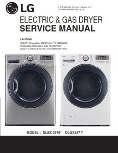 lg dlex3570v dlex3570w service manual dryer service manual and repair guide
