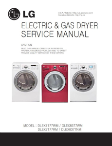 LG DLEX7177WM DLEX8377WM DLEX7177RM DLEX8377NM dryer service manual | eBooks | Technical