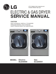 lg dlex8500v dlex8500w service manual dryer service manual and repair guide
