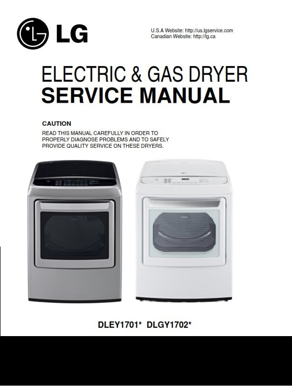 LG DLEY1701V DLEY1701W service manual steam dryer service manual + parts list catalog | eBooks | Technical