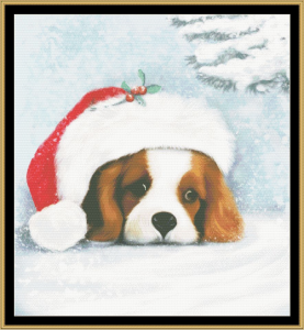 Christmas Puppy Cross Stitch Pattern By Mystic Stitch | Crafting | Cross-Stitch | Wall Hangings