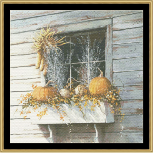 window dressing cross stitch pattern by mystic stitch
