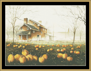 october gray cross stitch pattern by mystic stitch