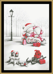 Happy Couple Cross Stitch Pattern By Mystic Stitch | Crafting | Cross-Stitch | Wall Hangings