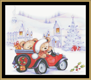 home for the holidays cross stitch pattern by mystic stitch