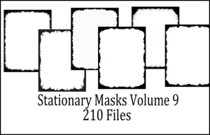 Printable Stationery Designs Paint Shop Pro Masks Vol 9 made by Sophia Delve | Crafting | Cross-Stitch | Wall Hangings