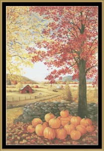 autumn splender cross stitch pattern by mystic stitch