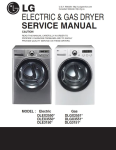 LG DLGX3551V DLGX3551W dryer service manual and repair guide | eBooks | Technical