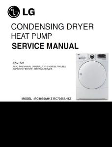 LG RC8055AH1Z + RC7055AH1Z dryer service manual service manual | eBooks | Technical