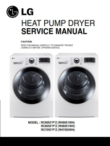 LG RC8055AP3Z dryer service manual and repair guide | eBooks | Technical