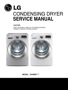 LG RC8066AS2Z dryer service manual and repair guide | eBooks | Technical