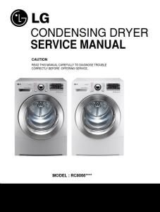 lg rc8066as2z dryer service manual and repair guide