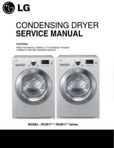 LG RC9011A dryer service manual and repair guide | eBooks | Technical