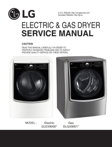 LG DLEX9000W DLEX9000V dryer service manual and repair guide | eBooks | Technical