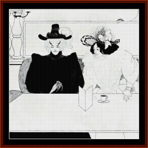 black coffe - beardsley cross stitch pattern by cross stitch collectibles