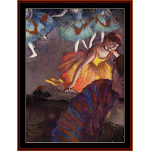 Ballet, from the Opera Box, 1885 - Degas cross stitch pattern by Cross Stitch Collectibles | Crafting | Cross-Stitch | Wall Hangings