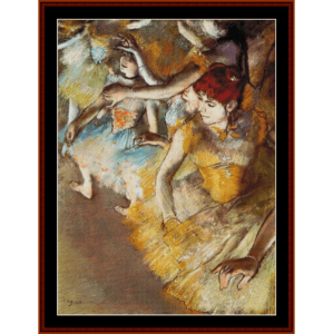 Ballet Dancers on Stage - Degas cross stitch pattern by Cross Stitch Collectibles | Crafting | Cross-Stitch | Wall Hangings