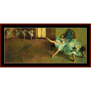 Before the Ballet, 1892 - Degas cross stitch pattern by Cross Stitch Collectibles | Crafting | Cross-Stitch | Wall Hangings
