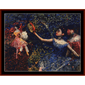 dancer and tambourine - degas cross stitch pattern by cross stitch collectibles