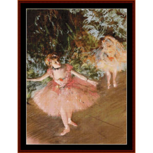 Dancer on Stage II - Degas cross stitch pattern by Cross Stitch Collectibles | Crafting | Cross-Stitch | Wall Hangings