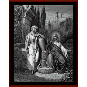 Jesus and the Woman of Sameria - Gustave Dore cross stitch pattern by Cross Stitch Collectibles | Crafting | Cross-Stitch | Wall Hangings
