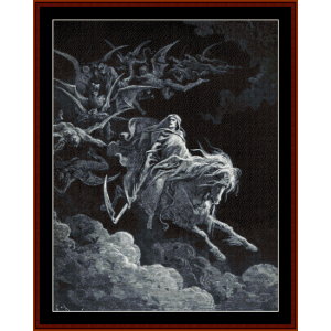 the vision of death - gustave dore cross stitch pattern by cross stitch collectibles