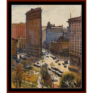 The Flatiron Building, NY - Halpert cross stitch pattern by Cross Stitch Collectibles | Crafting | Cross-Stitch | Wall Hangings
