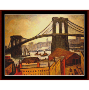 the brooklyn bridge - halpert cross stitch pattern by cross stitch collectibles