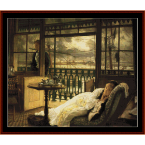 A Passing Storm - Tissot cross stitch pattern by Cross Stitch Collectibles | Crafting | Cross-Stitch | Wall Hangings