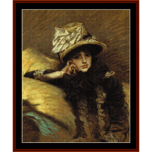 berthe - tissot cross stitch pattern by cross stitch collectibles