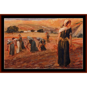 Gleaners - Tissot cross stitch pattern by Cross Stitch Collectibles | Crafting | Cross-Stitch | Wall Hangings