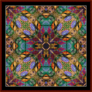 fractal 593 cross stitch pattern by cross stitch collectibles