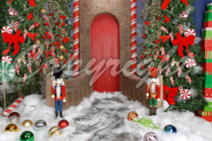 christmas nutcracker single backdrop